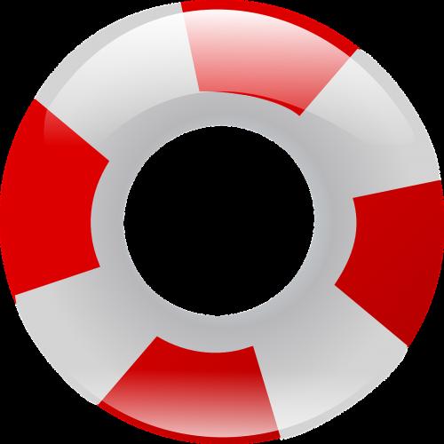 Plaukti Žiedą, Pripučiami, Gyvenimo Savininkai, Žiedai, Raudona, Balta, Plaukti Vamzdis, Guminis Žiedas, Gelbėjimas, Plaukiojantieji, Plūdės, Vanduo, Nemokama Vektorinė Grafika