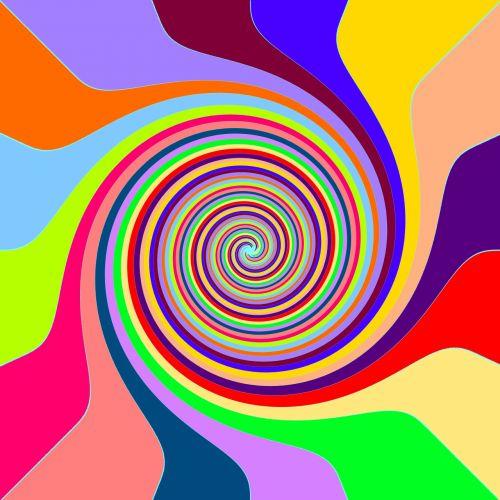 vaivorykštė, sūkurys, lollipop, šviesus, linksmas, swirly