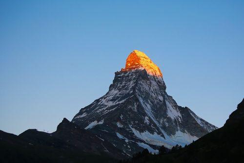 Swiss, Zermatt, Ragas, Alpės, Kalnas, Peizažas