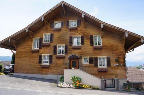 Šveicarija,namai,langas,namas,Šalis,langai,chaotiškas,mediena