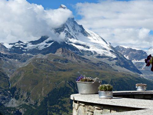 Šveicarija, Zermatt, Gamta, Kalnai