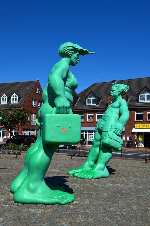 Sylt, Westerland, skaičiai, audra skaičiai, žalias, Šiaurės jūra, atostogos, vasara, atmosfera, žmogus, kreivai, audringa, grupė, Asmeninis, skulptūra, žmonių, žmonių grupė, šeima