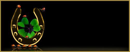 simbolis,sėkmė,laimingas dobilas,keturių lapų dobilų,vierblättrig,laimingas žavesys,pasagos,sėkmės simbolis,dobilas,laimingas pasiuntinys,Boružė,gyvūnas,vabalas,auksas,auksinis,skrajutės,atvirukas,rėmas