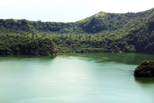ežeras, taal & nbsp, ežeras, vaizdas, gamta, vanduo, medžiai, lapai, Filipinai, žolė, taal ežeras Filipinuose 2