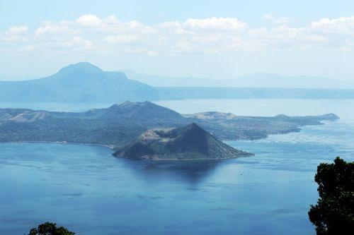 taal & nbsp, vulkanas, taal & nbsp, ežeras, kalnas, Tagaytay, vulkanas, ežeras, vaizdas, peizažas, gamta, debesys, taalinis vulkanas Filipinuose 2