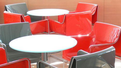stalas,kėdės,farbenspiel,pertrauka,gastronomija,sėdynės,raudona,pilka,balta,sėdynė