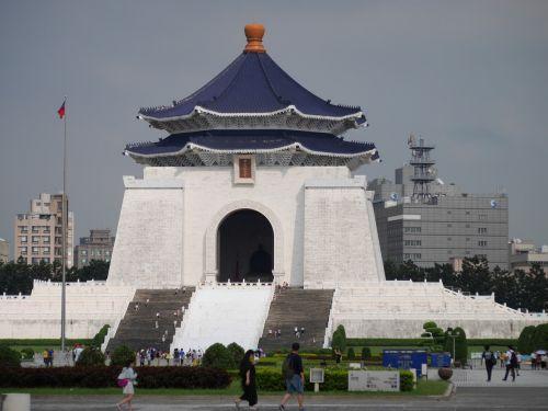 taipei,Taivanas,architektūra,Chiang Kai-shek memorialinė salė,kvadratas,istorinis,Taivanas,žinomas,peizažas