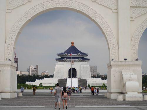 taipei,Taivanas,Chiang Kai-shek memorialinė salė,laisvės aikštė,Taivanas,architektūra,žinomas,turizmas