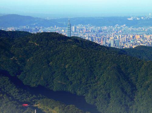 miesto-kaimo, taipei & nbsp, 101, dangoraižis, Taivanas, taipei miestas nuo jiangziliao