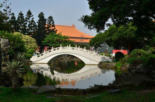 Taivanas,asija,taipei,kinai,Taivanas,peizažas,parkas,tiltas,tvenkinys,kraštovaizdis,sodas