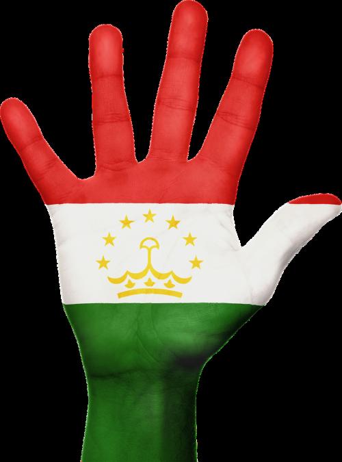 tajikistanas,vėliava,ranka,nacionalinis,pirštai,patriotinis,patriotizmas,centrine Azija,gestas