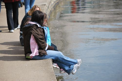 žmonės, vaikai, atsipalaiduoti, poilsis, poilsio, pertrauka, sėdėti, padaryti pertrauką