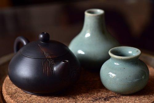 trišakis, Kinijos, arbatos ceremonija, Azijoje, karšto, gerti, puodai, atsipalaidavimas, išsaugojimas, taika, tradiciškai, TCM, pobūdį, sveiki, gerovė, porceliano, švelnus, mažas, arbatinukas, vazos, dekoratyvinis, pertrauka