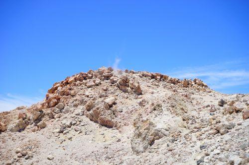 teide,aukščiausiojo lygio susitikimas,vulkanas,garai,rūkymas,dūmai,vulkaninis,pico del teide,vulkaninis krateris,krateris,siera,sieros garai,lava,lavos laukas,teyde,Teide nacionalinis parkas,Tenerifė,Kanarų salos