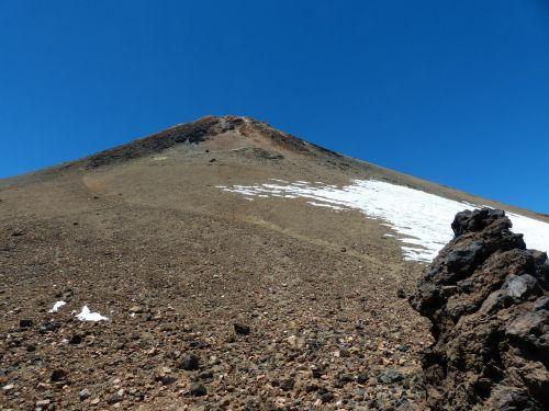 teide,kalnas,aukščiausiojo lygio susitikimas,vulkanas,Tenerifė,Kanarų salos,pico del teide,el teide,toli,pakilti,sluoksnis,lava,lava rock,lavos laukai,sniego sniegas,sniego grotelės