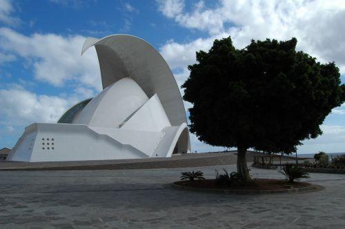 Tenerifė,auditorius Tenerifė,pastatas,santa cruz,Kanarų salos,koncertų salė,orientyras,įvedimas,salos kapitalas,avangardo,architektūra
