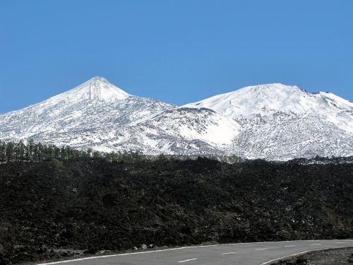 Tenerifė, teide, pico del teide, el teide, teide, Ispanija, Kanarų salos, vienatvė, žiema, gamta