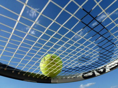 tenisas,teniso kamuoliukas,teniso raketė,Sportas,žaisti tenisą,rutulys,laisvalaikis,sportas,teniso sportas,dangus,mėlynas,geltona