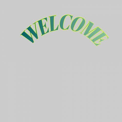 tekstas, Sveiki, žalias, lankas, figūra, gradientas, viršuje, pilka, fonas, tekstas sveikintinas