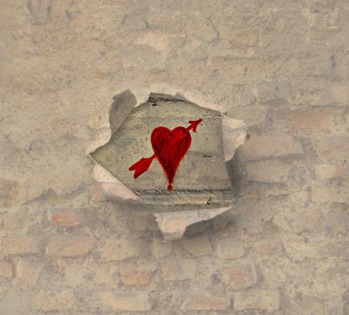 tekstūra,fonas,širdis,meilė,raudona širdis,siena,skaldyta širdis,partnerių paieška,pažinojimo reklama,atvira širdis,gailestingumas,amor,mūra