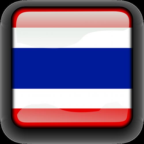Tailandas,vėliava,Šalis,Tautybė,kvadratas,mygtukas,blizgus,nemokama vektorinė grafika