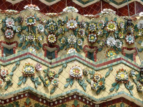Tailandas,karališkasis rūmai,frize,keramika