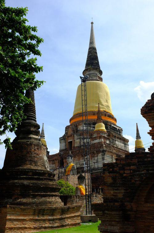 Ayutthaya senas,pagoda,phra nakhon si ayutthaya,priemonė,Tailandas