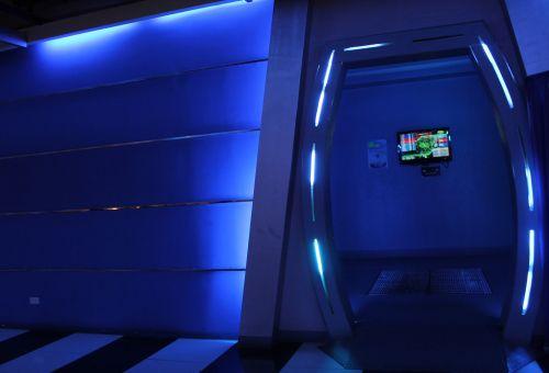 mėlynas & nbsp, kambarys, mėlynas, kambarys, durys, objektas, žibintai, siena, mėlynas kambarys