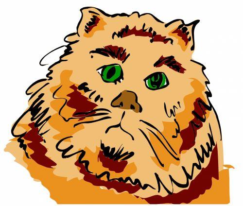 katės gyvenimas, eskizas, iliustracija, katė, naminis gyvūnėlis, gyvūnas, lenktynės, plėšrūnas, medžiotojas, užsispyręs, paliesti, įvedimas, gyvenimas, žaismingas, subraižyti, katės akys, uodega, raudona, katės gyvenimas 1
