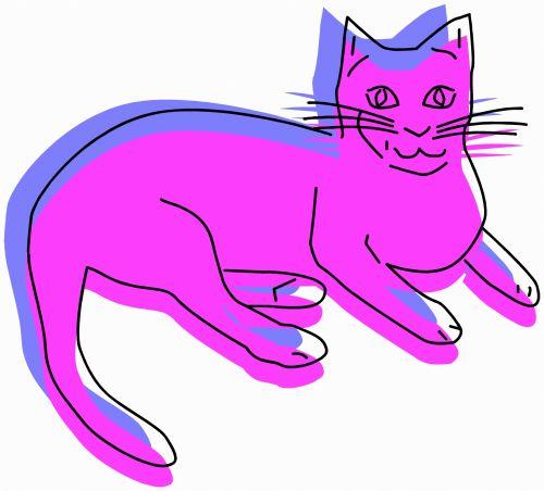 katės gyvenimas, eskizas, iliustracija, katė, naminis gyvūnėlis, gyvūnas, lenktynės, plėšrūnas, medžiotojas, užsispyręs, paliesti, įvedimas, gyvenimas, žaismingas, subraižyti, katės akys, uodega, violetinė, katės gyvenimas 10
