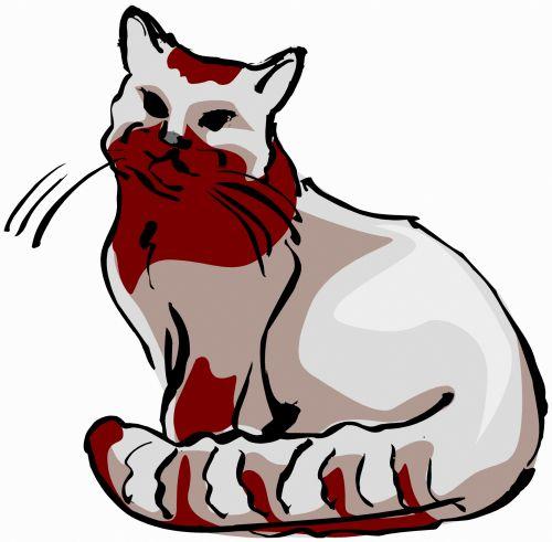 katės gyvenimas, eskizas, iliustracija, katė, naminis gyvūnėlis, gyvūnas, lenktynės, plėšrūnas, medžiotojas, užsispyręs, paliesti, įvedimas, gyvenimas, žaismingas, subraižyti, katės akys, uodega, juoda / ruda & nbsp, balta, katės gyvenimas 6