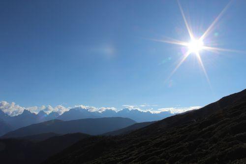 Atstumas,sutapimas,kalnas
