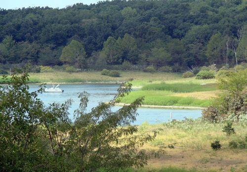 ežeras & nbsp, trumanas, didelis, kraštas, vanduo, gamta, vasara, kraštas
