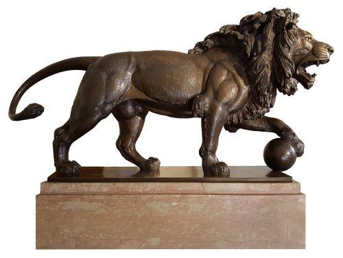 Liūtas,statula,bronza