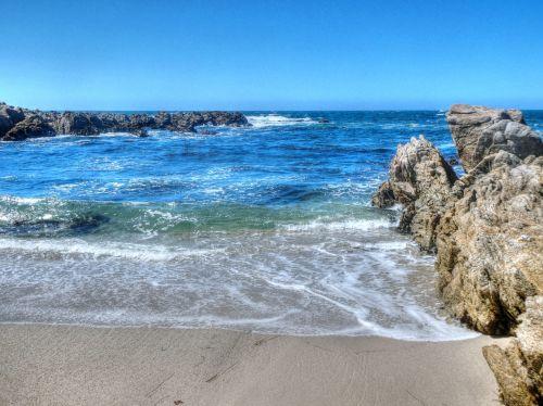 vandenynas, banga, bangos, jūra, papludimys, vanduo, Rokas, akmenys, vandenynas