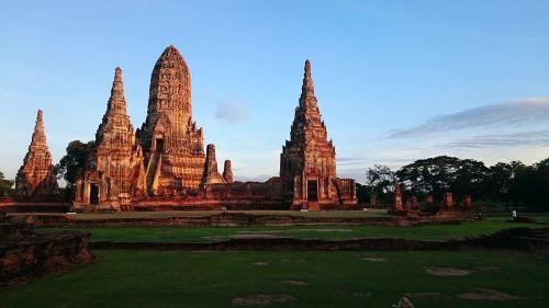 senoji šventykla,Ayutthaya,priemonė,Tailandas,senovės,Ayutthaya istorinis parkas,senovės Siam,Senamiestis,budizmas,Ayutthaya senas,pagoda,tikėjimas,religija,pagoda,buda,turizmas,Tailando šventykla,medis,dangus,moutain,mediena,christchurch