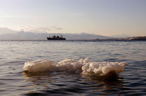 Ramusis vandenynas,banga,naršyti,putos,jūra,jūros dugnas,smėlis,papludimys,kranto,saulėlydis,laivas,ledas