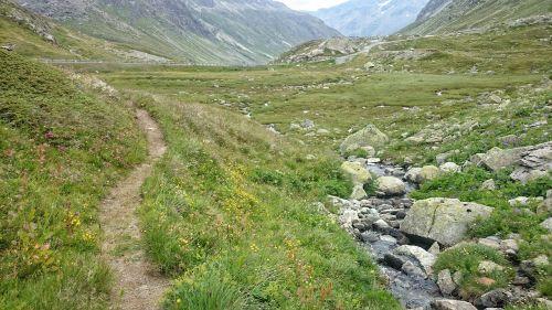 kelias,atsipalaiduoti,kalnų upelis,klajojantis,gamta,Alpės