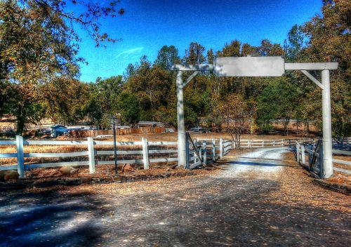 ranča, Šalis, važiuojamosios kelio dalies, lauke, kaimas, kaimiškas, ranča