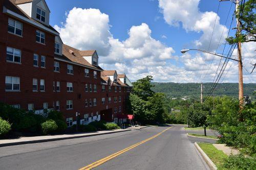 miestelio peizažas,Jungtinės Valstijos,kaimas,dangus,geras oras,aplinka gerai,cornell,ithaca,debesis,fonas