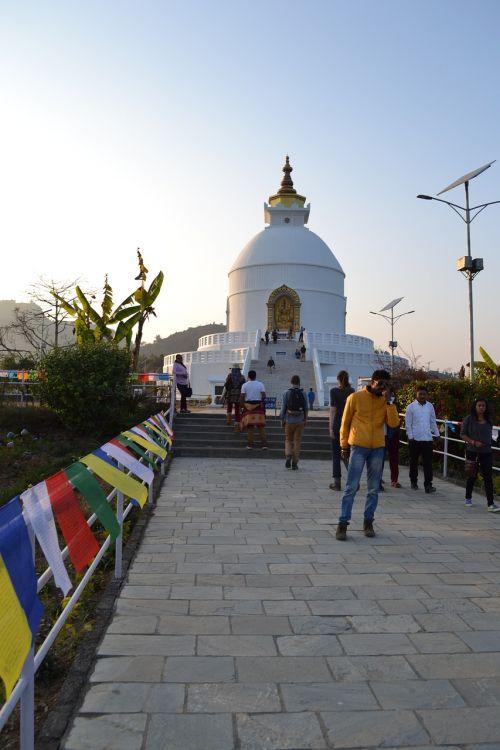 Stupa, Nepalas, Pokara