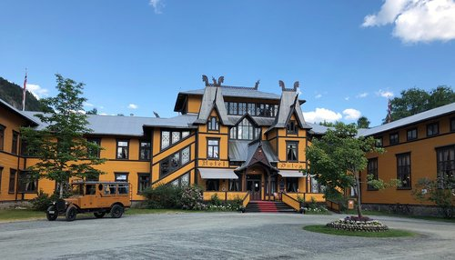 slėnis, Telemark Norvegija, Norvegija, istorinis, viešbutis