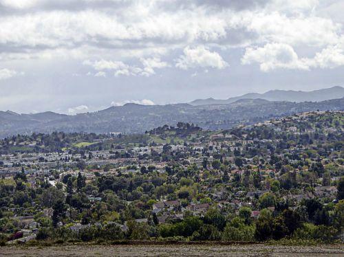 kraštovaizdis, vaizdas, vista, slėnis, san & nbsp, fernando & nbsp, slėnis, Kalifornija, gyvenamasis, slėnis