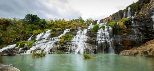 Krioklys, Krioklys Ponguor, Krioklys, Vanduo, Natūralus, Vietnamas, Grožis, Peizažas, Rokas, Srautai, Grožis, Lauke, Kaimas