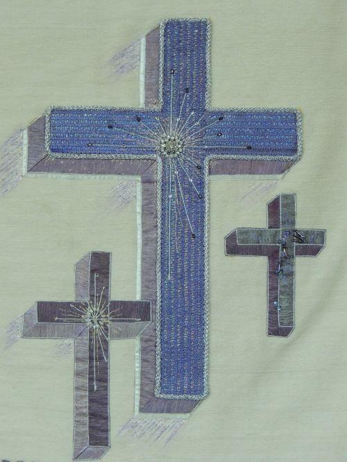 kirsti, trys, kryžiai, garbinimas, bažnyčia, drobė, vieta & nbsp, arba & nbsp, garbinimas, trys kryžiai