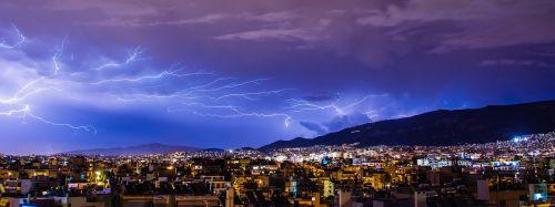 griauna,apšvietimas,žaibas,debesis,varžtas,griauna,žaibo audra,rainstorm