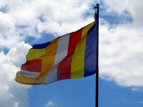 tibetiečių vėliava,vienuolynas,mundgod,Karnataka,Indija,budizmas,mini tibetas,Tibeto gyvenvietė,religinis