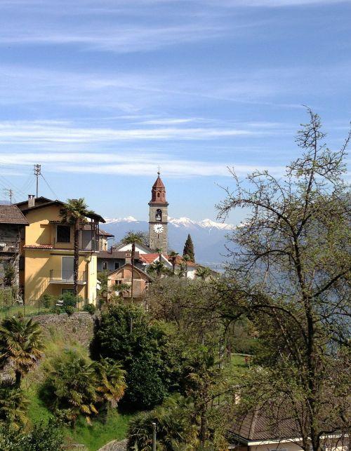Ticino, Šveicarija, Bažnyčia, Kalnai, Kraštovaizdis