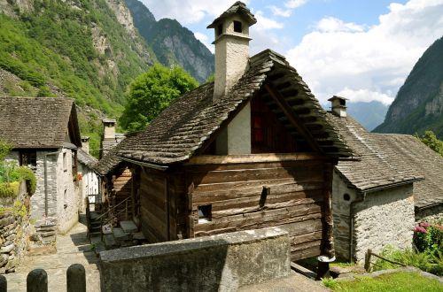 Ticino, Foroglio, Kaimas, Rustico