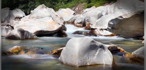Ticino, Bachas, Vanduo, Rokas, Upė, Vandenys, Gamta, Verzasca